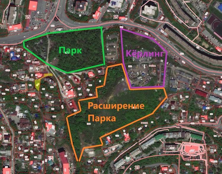 Расположение будущих проектов. Схема предоставлена Дмитрием Алексеевым