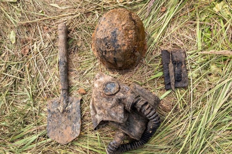 Удалось найти вещи погибших бойцов Фото: поисковый отряд «Сталкер»