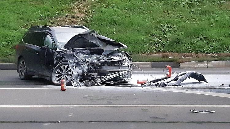 В результате аварии пострадали четыре человека