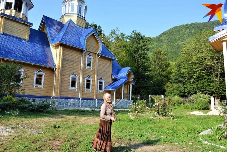 Наталья сама построила храм.