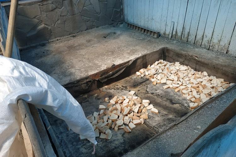 Производство и запасы сухарей на зиму