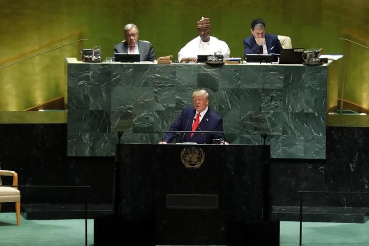 Дональд Трамп выступил на открытии 74 Генеральной ассамблеи ООН