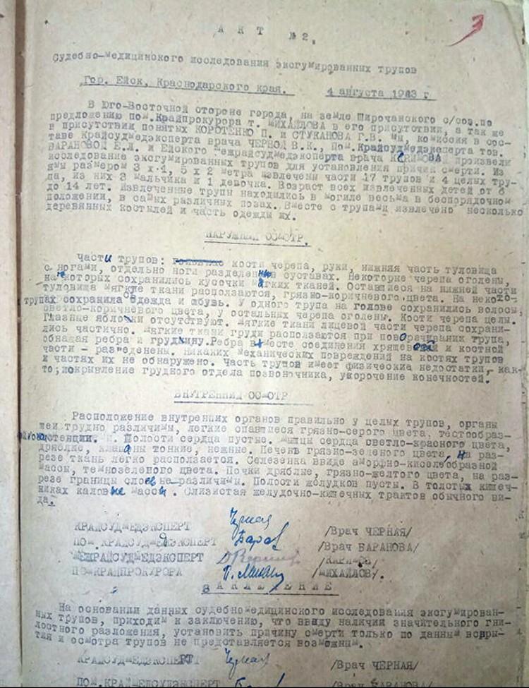 Опубликованы документы о зверствах нацистов в Ейске. Фото: пресс-служба УФСБ по Краснодарскому краю