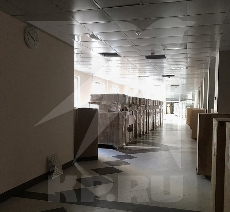 В помещениях нового корпуса.
