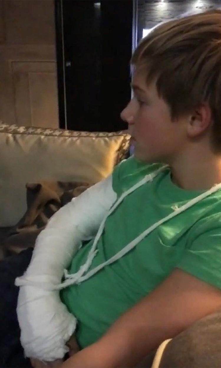 Сын Юлии Барановской Артем серьезно травмировался.