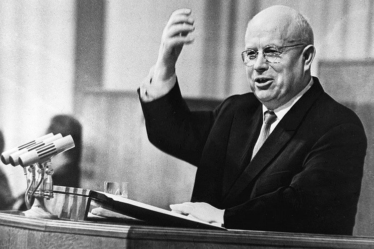 Никита Хрущев на трибуне, 1963 год. Фото ТАСС