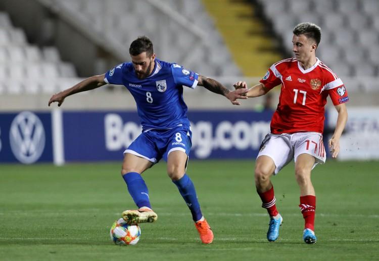 Александр Головин был во всеоружии в матче с Кипром.