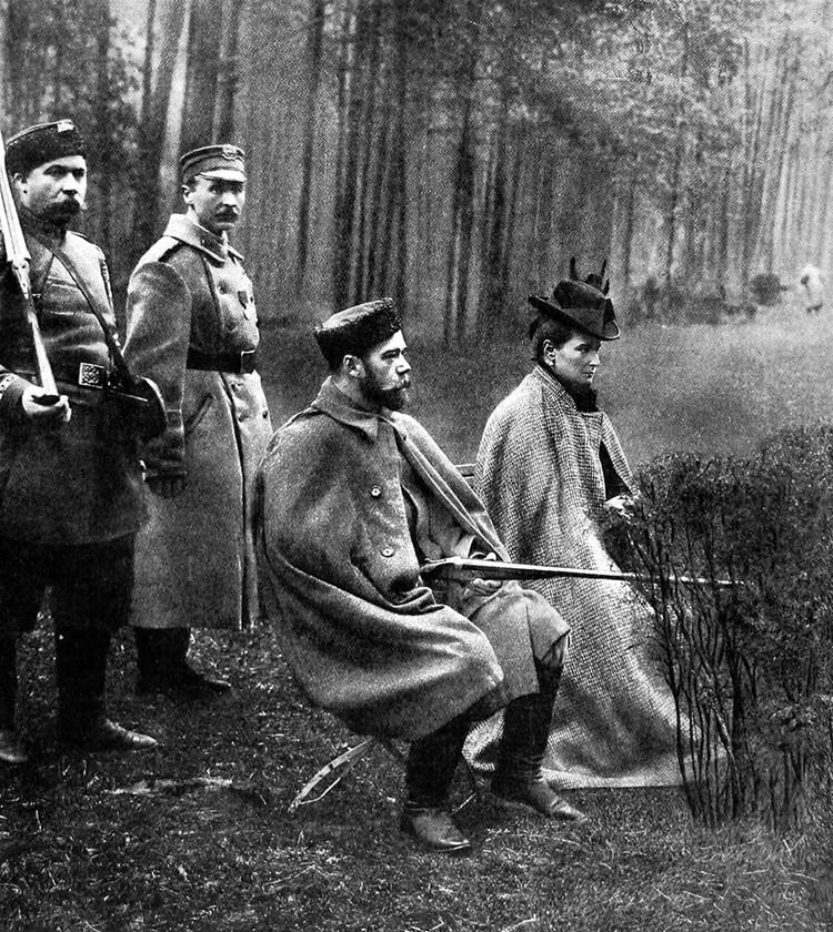 Николай II на охоте