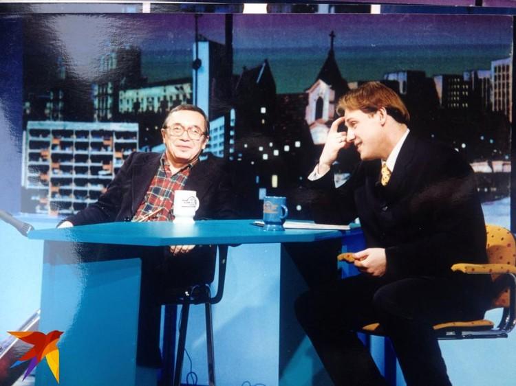 Беседа с Юлием Кимом. Фото: Архив Егора Хрусталева