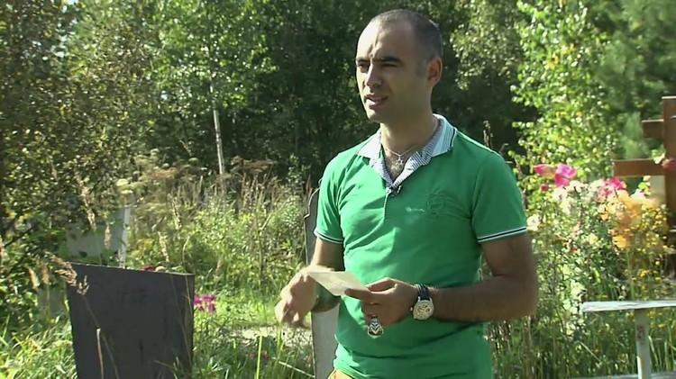 Экстрасенс Зираддин Рзаев не первый год расследует телепреступления. Часто для этого снимается на кладбище. Фото: Канал ТНТ