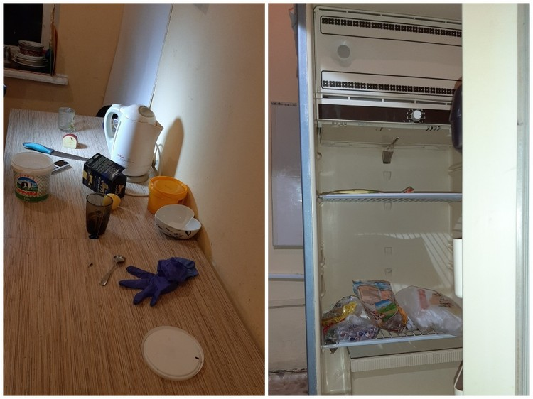 Холодильник почти пустой. Фото: Татьяна Авдеева.