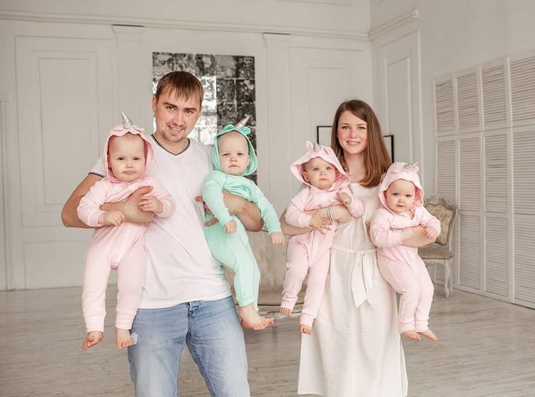 Папа уже думает еще об одном сыне! Фото: www.instagram.com/marinka_kvadromama