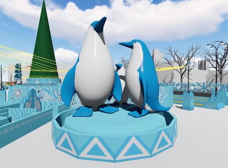 В высоту эти пингвины будут достигать 8 метров. Фото: администрация Екатеринбурга
