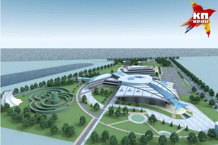 Так выглядит проект океанариума, который хотели построить на Бору. Фото: пресс-служба правительства Нижегородской области.