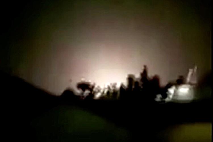 Момент атаки на военную базу попал на видео