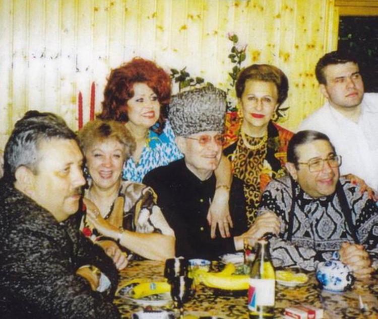 Ольга Мигунова с советскими звездами эстрады