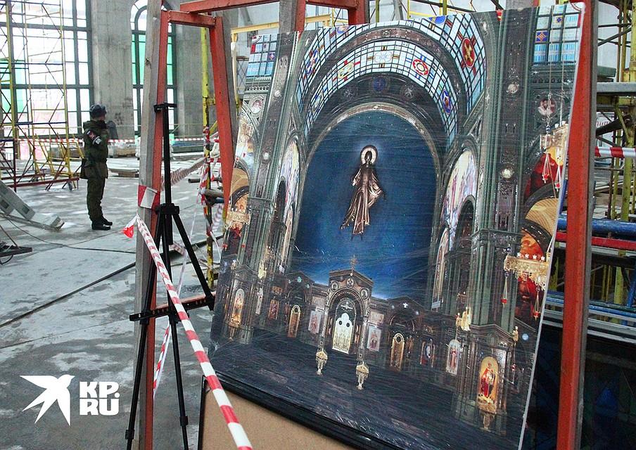 По планам, Главный храм ВС РФ откроется к 9 мая, годовщине Победы. Фото: Владимир ДЕМЧЕНКО