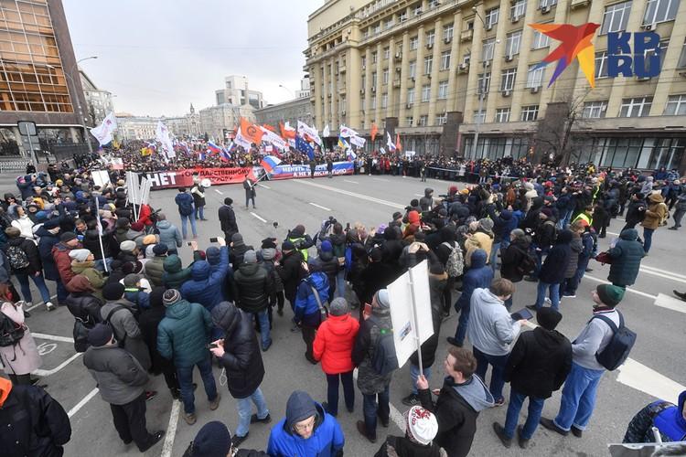 Марш памяти Бориса Немцова в Москве.