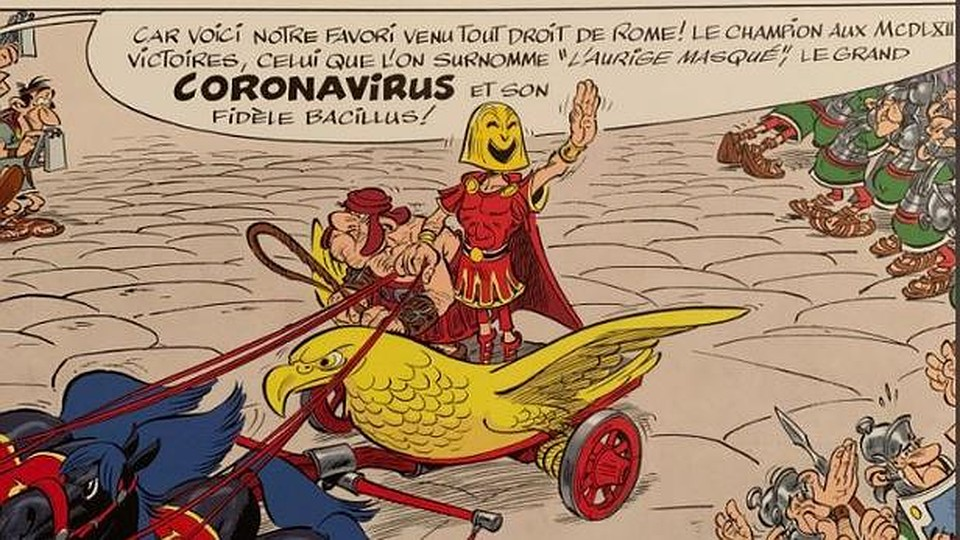 Вспомнили и комикс «Астерикс и Транситалика». Фото: twitter.com