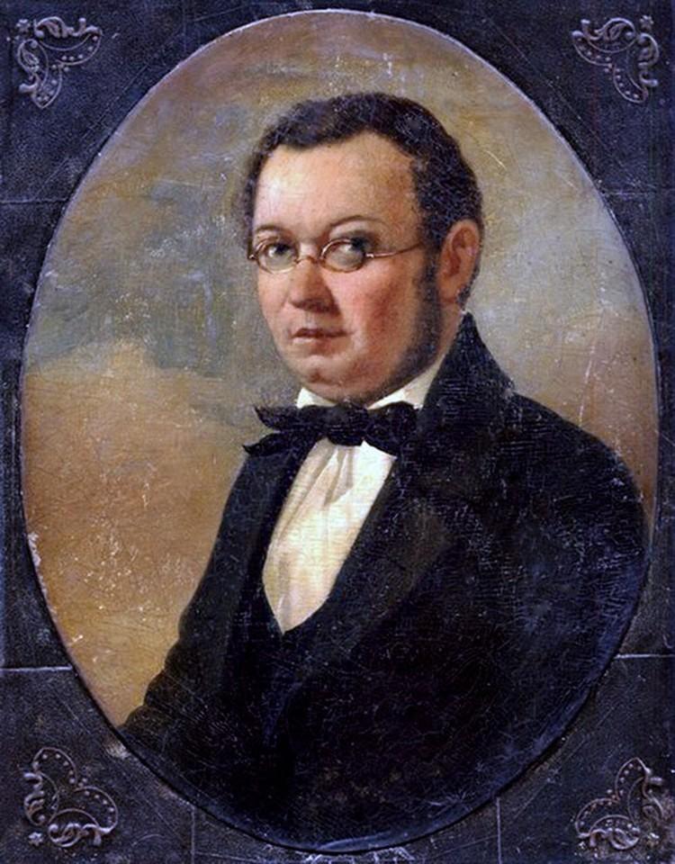 Прижизненный портрет Петра Ершова работы художника Николая Маджи.