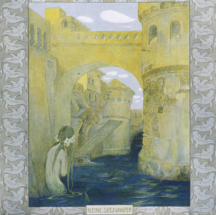"""Иллюстрация к """"Русалочке"""" из книги начала 20 века."""