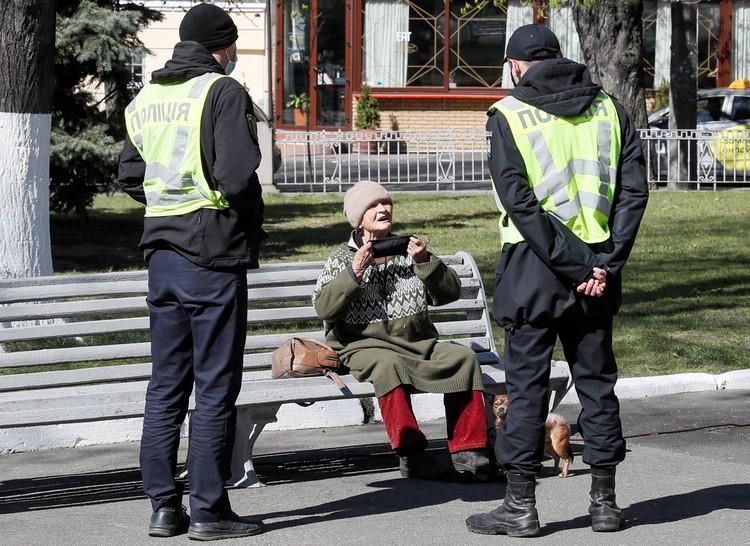 Киевская полиция теперь в основном гоняет стихийных торговцев, любителей прогулок и барбекю на природе.
