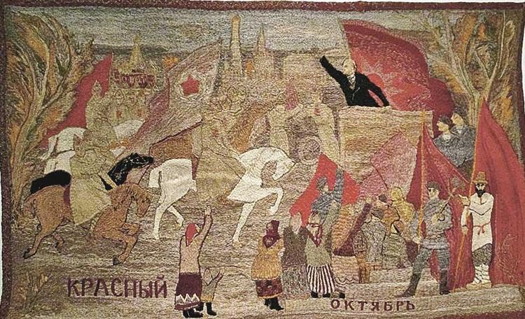 На ковре русских умельцев вождь приобрел черты былинного князя. Фото: Личный архив.