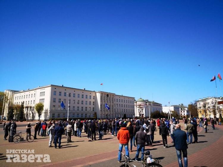 Традиционный воскресный протест на площади. Фото: Роман КИСЛЯК, b-g.by