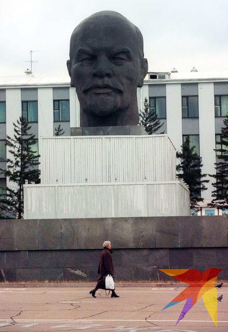 Самый большой бюст Ленина в мире находится в Улан-Уде