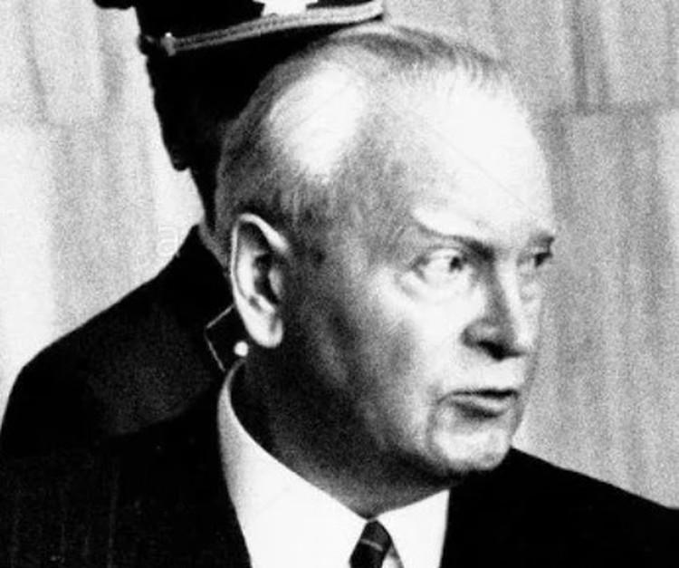Пауль Цапп на суде. Мюнхен. 1970 год.