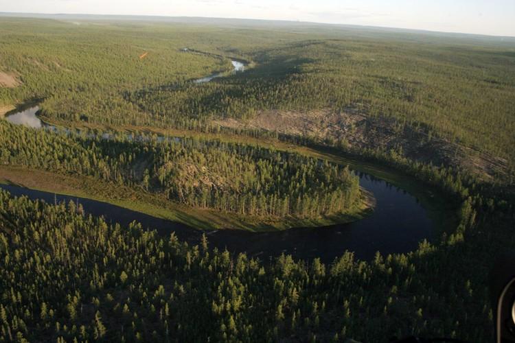 Такой увидел якутскую долину смерти с вертолета исследователь Евгений Трошин. Фото Евгения Трошина