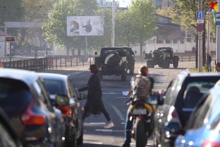 На время репетиции на некоторых улицах города было перекрыто движение автомобильного транспорта.