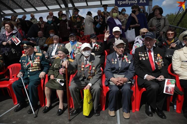 На трибунах можно было увидеть ветеранов.