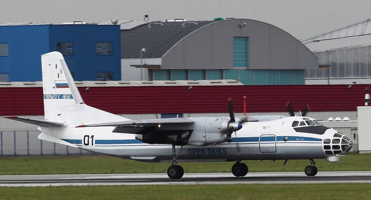 Российский самолет наблюдения Ан-30б.