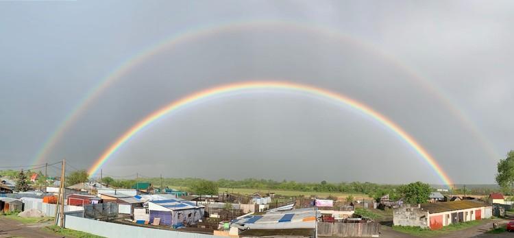 Говорят, что увидеть радугу - к счастью! Фото: Анна Сорокина