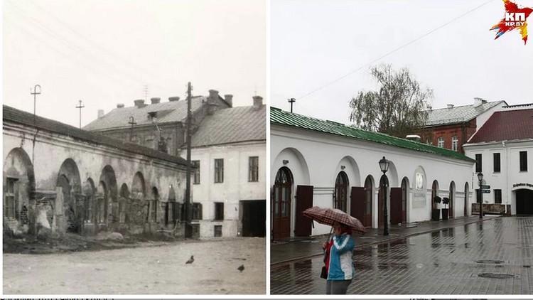 Торговые ряды в Верхнем городе на фото Михася Мицкевича и в наши дни разительно отличаются.