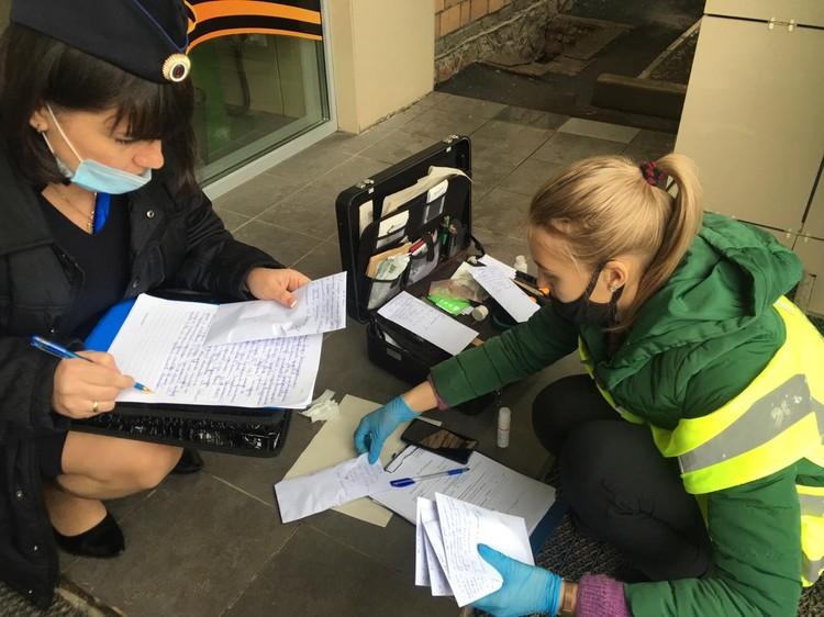 Работают эксперты.Фото: ГУ МВД России по Красноярскому краю.