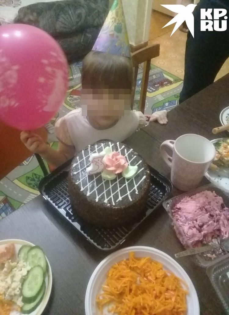 Так отмечают дни рождения в многодетной семье. Фото: личный архив.