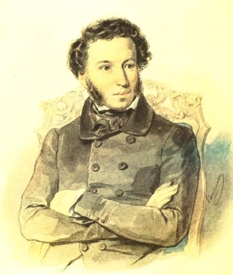 Портрет Александра Пушкина художника П.Соколова, 1836 год.