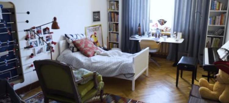Комната Платона в новой квартире, которую недавно в центре Москвы купил Дмитрий Шепелев