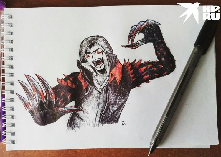 Деревенский подросток увлекался аниме и часто рисовал мрачных персонажей. Фото: соцсети.