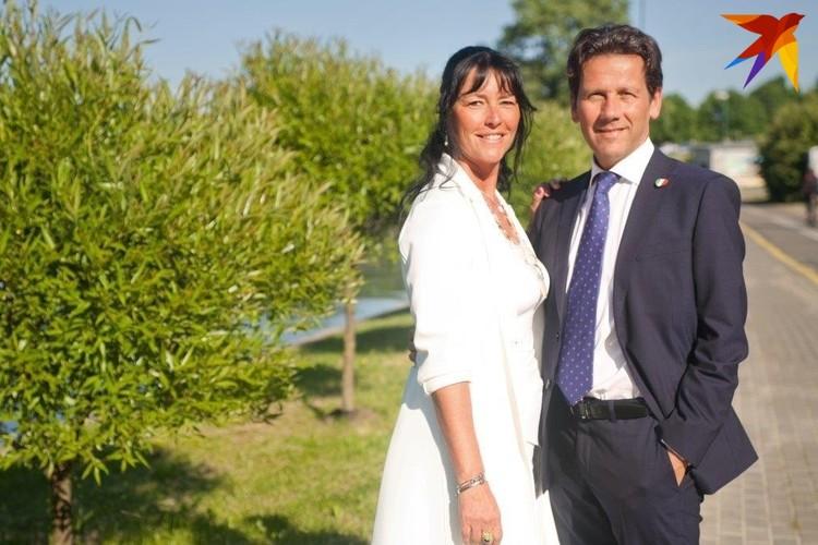 Посол Италии в Беларуси с супругой Николетт. Фото: семейный архив.