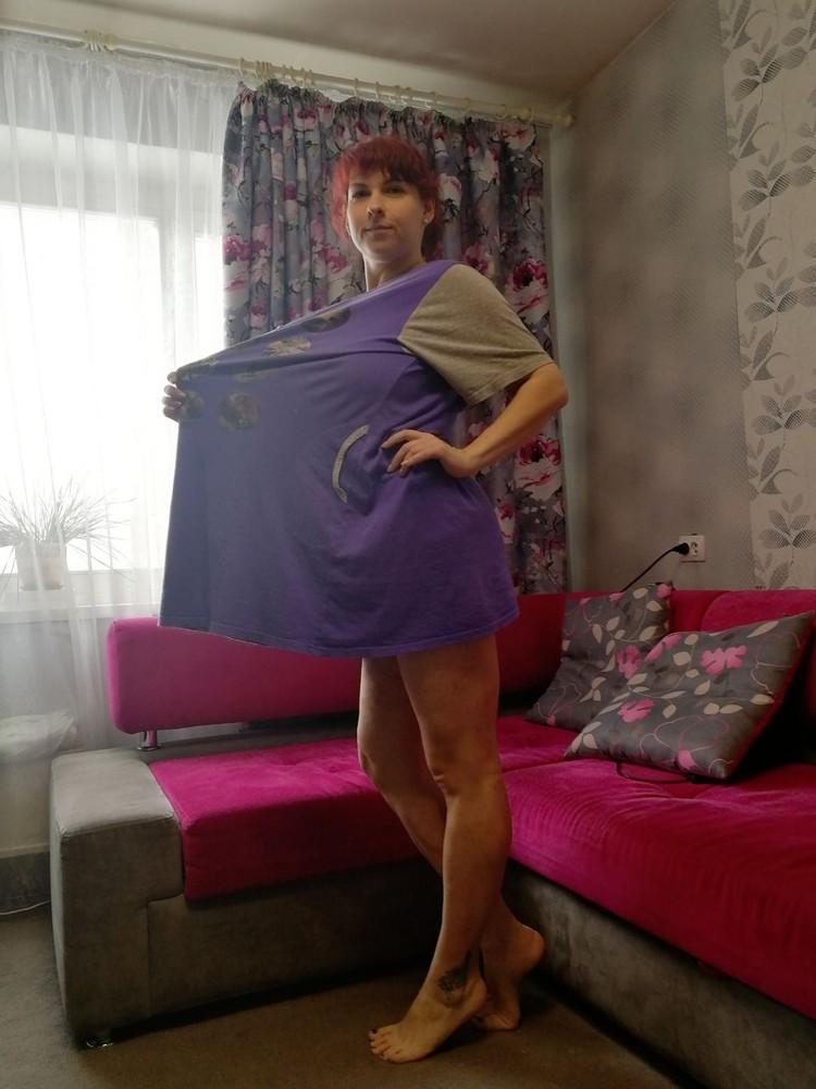 Катя сейчас носит одежду на несколько размеров меньше. Фото: личный архив.