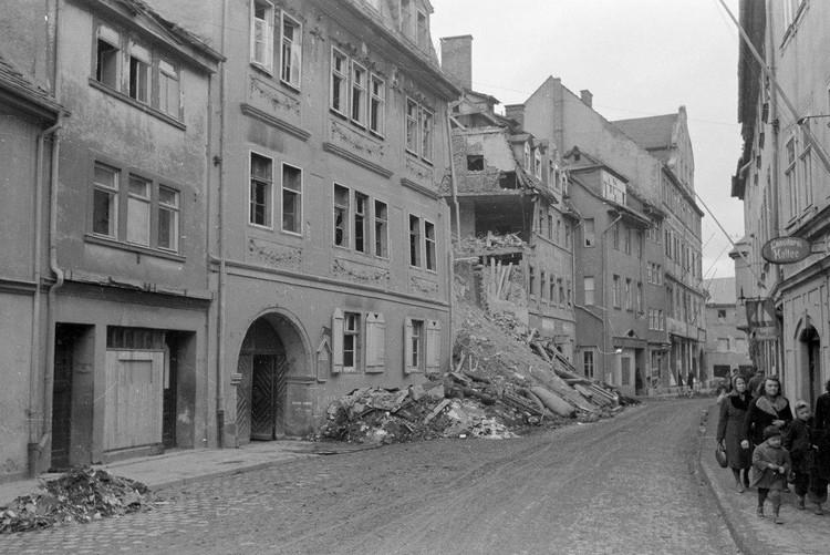 Вид разрушенного города Веймар. 1945 г. Фото: weimar.de