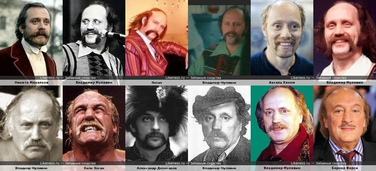 Посмотрели на сайте забавных сходств, с кем из современников сравнивают образ Владимира Мулявина. Фото: Likeness.ru