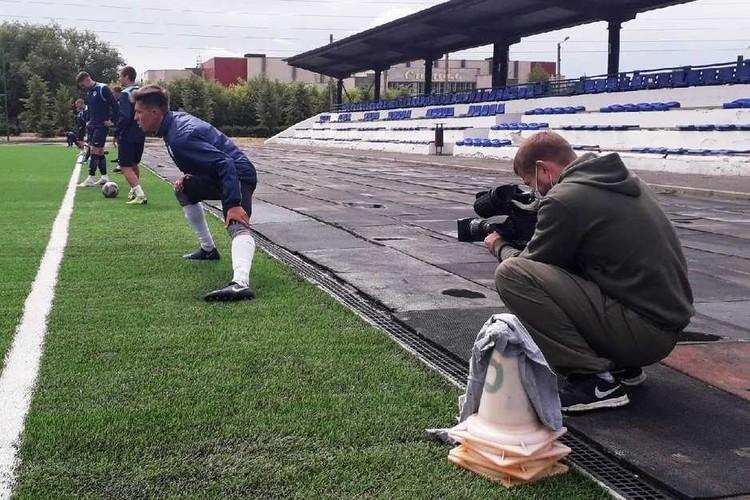 Сегодня футболисты провели первую открытую тренировку для прессы