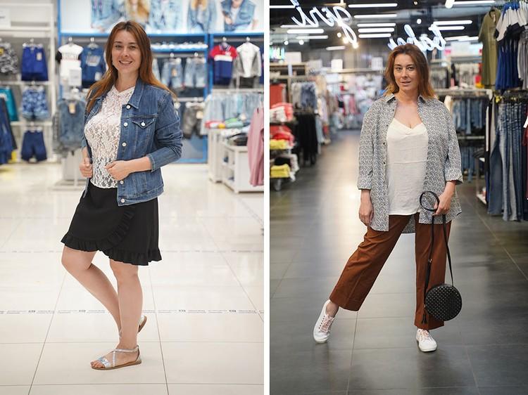 Куртки: слева - облегающая джинсовка, справа - модный вариант куртки.
