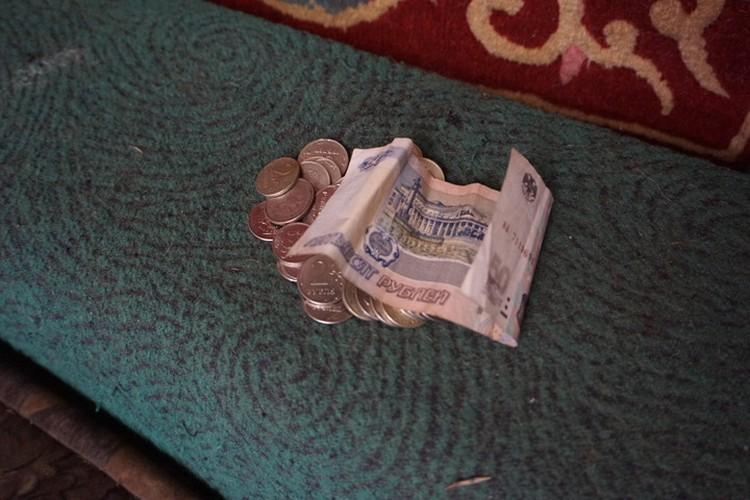 Бюджет девушки на момент нашего визита.
