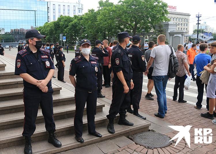 Полиция никого не задерживает