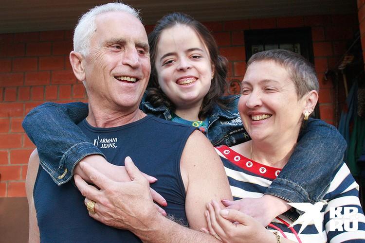 Анзор Кавазашвили с семьей